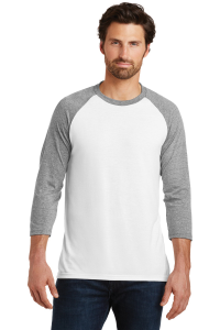 District Made® Perfect Tri 3/4-Sleeve Raglan - Men's