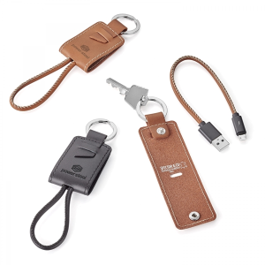 Nathan - Genuine Leather Key Ring/Charging Kit